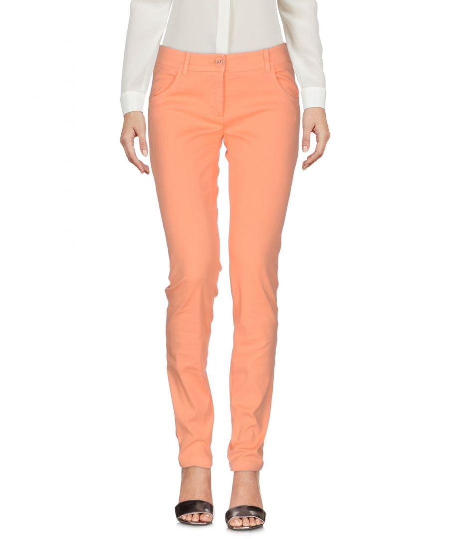 Image for Pinko Orange Cotton Tapered Leg Trousers