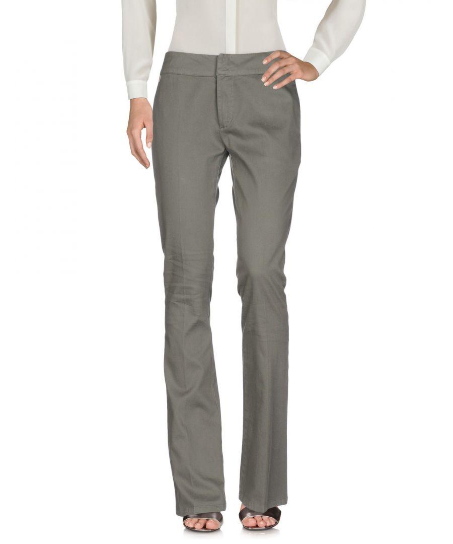 Image for Manila Grace Military Green Cotton Jacquard Wide Leg Trousers