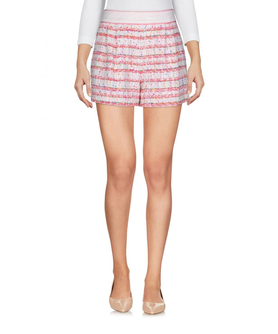 Image for Boutique Moschino White Tweed Cotton High Waisted Shorts