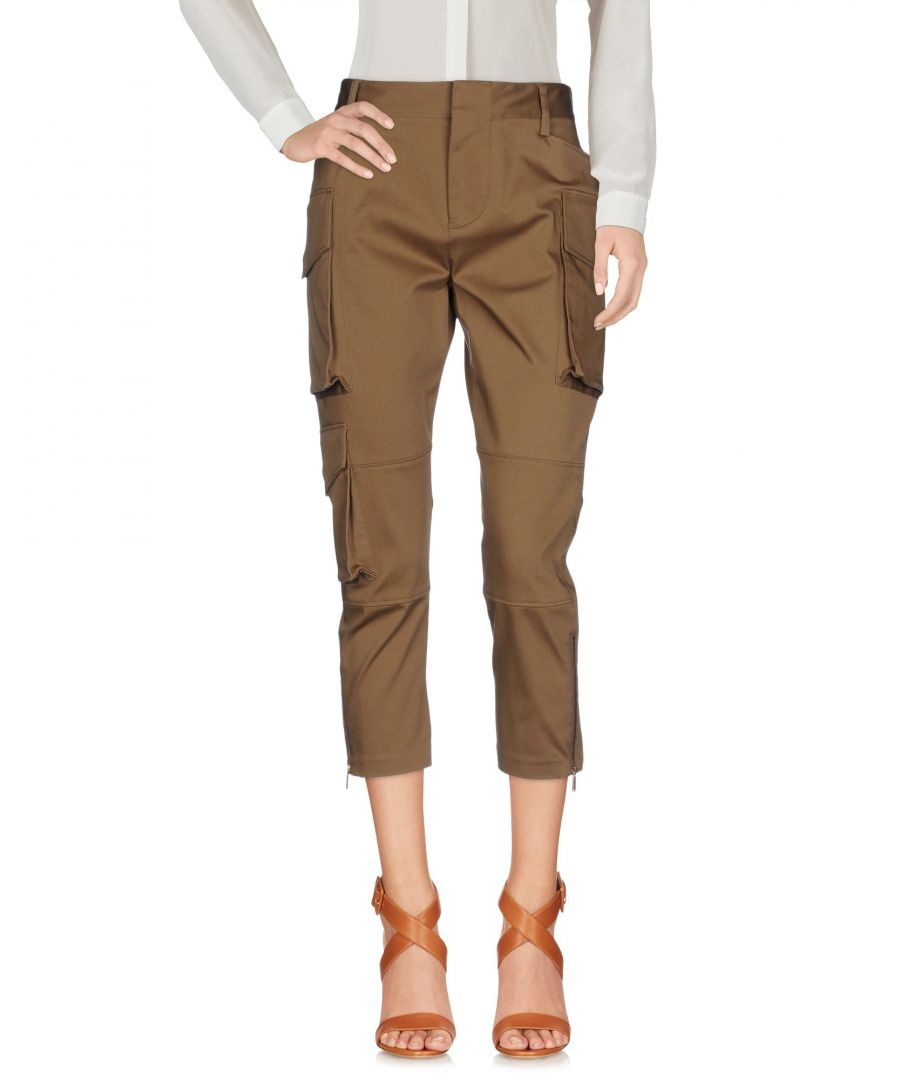 Image for Dsquared2 Camel Cotton Cropped Trousers