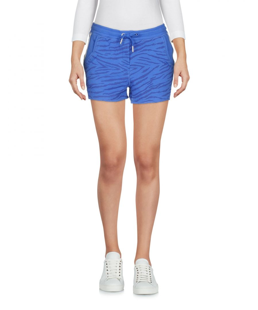 Image for Zoe Karssen Blue Zebra Stripe Cotton Shorts