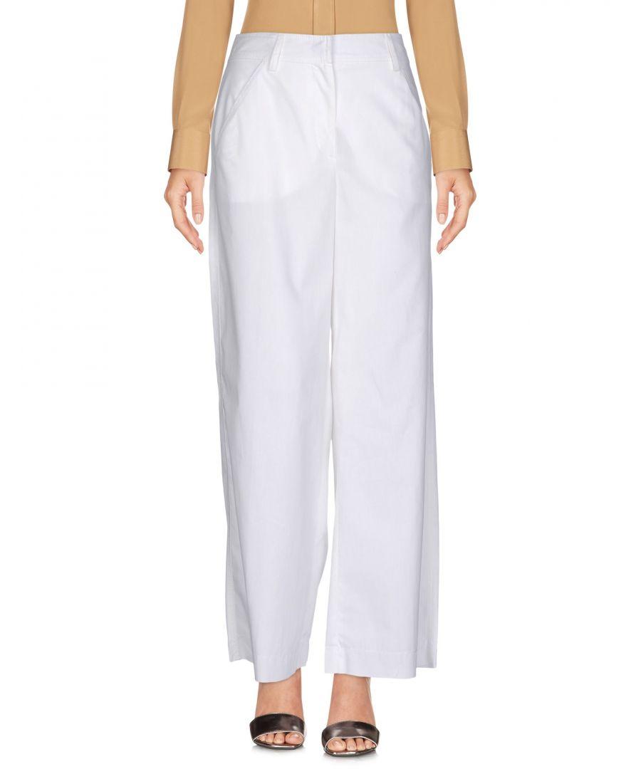 Image for Philosophy Di Lorenzo Serafini Ivory Cotton Wide Leg Trousers