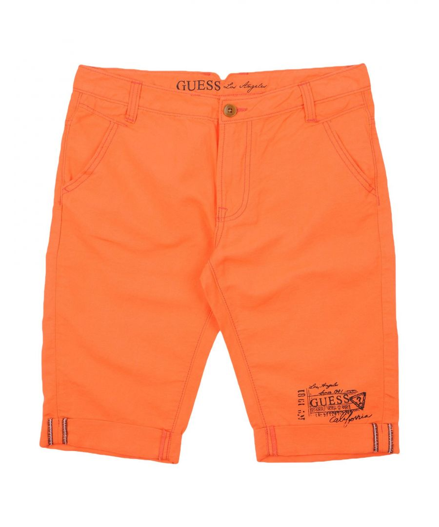 Image for TROUSERS Guess Orange Girl Cotton
