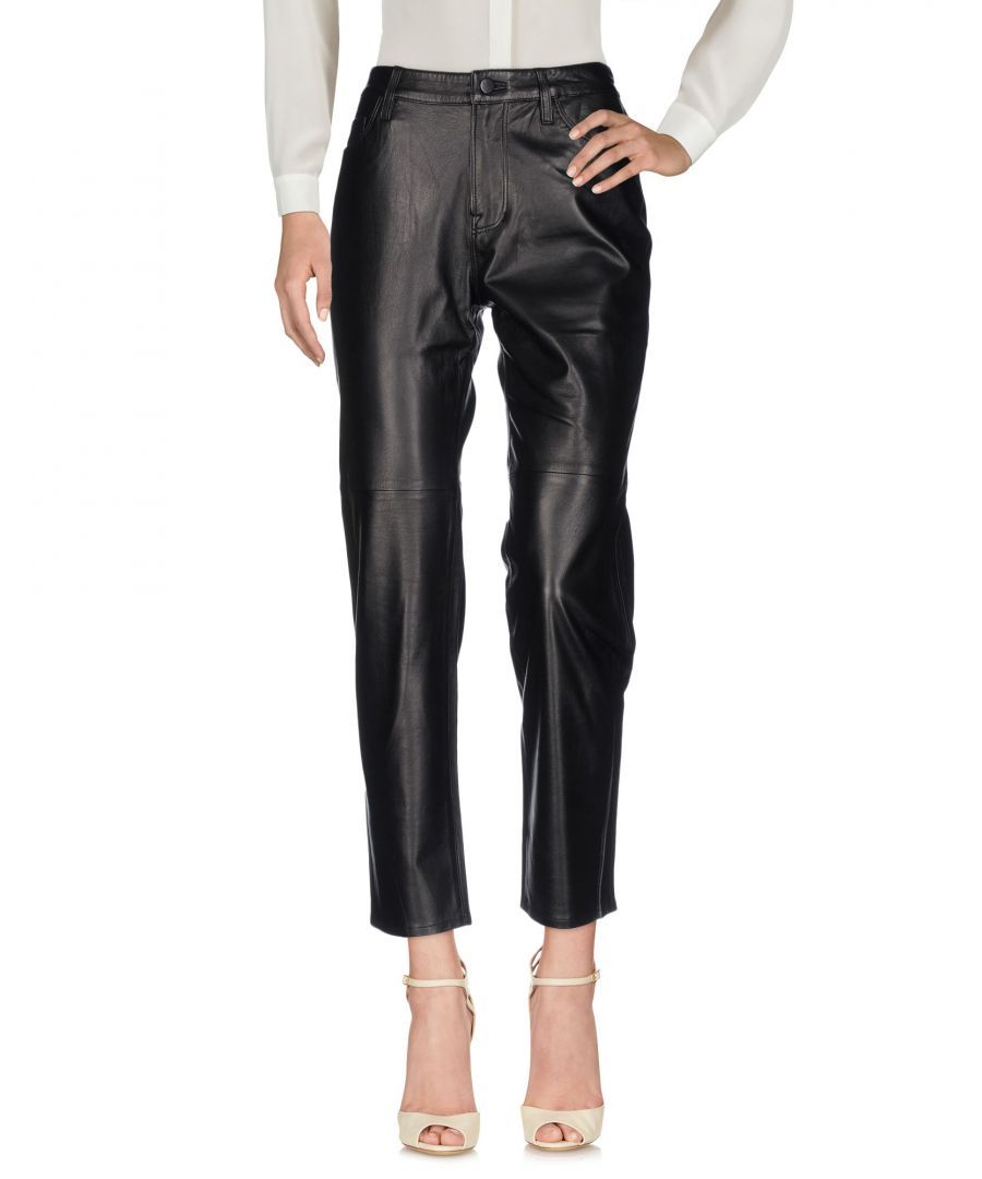 Image for J Brand Black Lambskin Casual Trousers