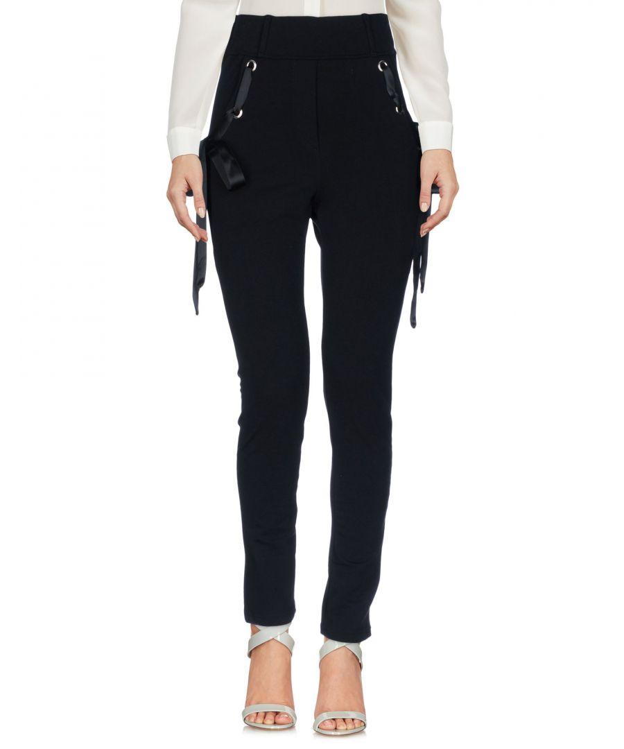 Image for Odi Et Amo Black Cotton Straight Leg Trousers