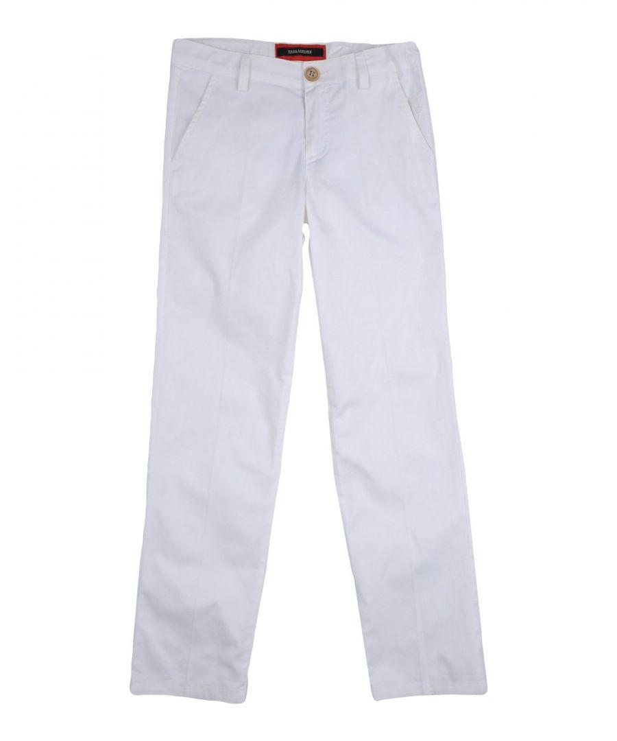 Image for Tagliatore White Boy Cotton Trousers