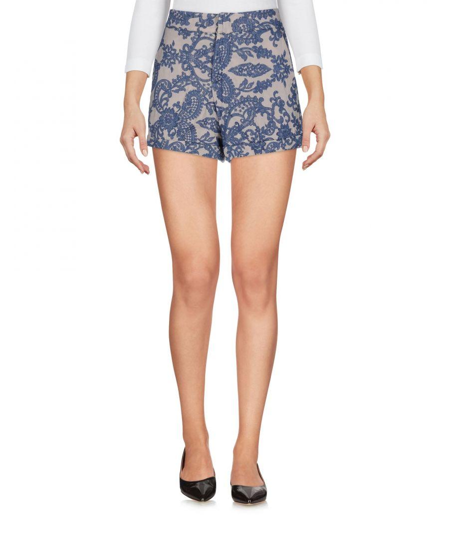 Image for Jijil Pastel Blue Floral Design Embroidered Shorts