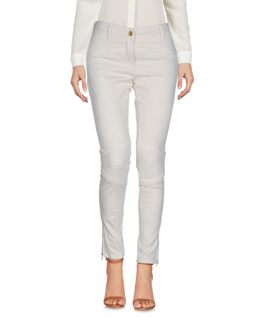 Image for Cavalli Class Beige Cotton Trousers