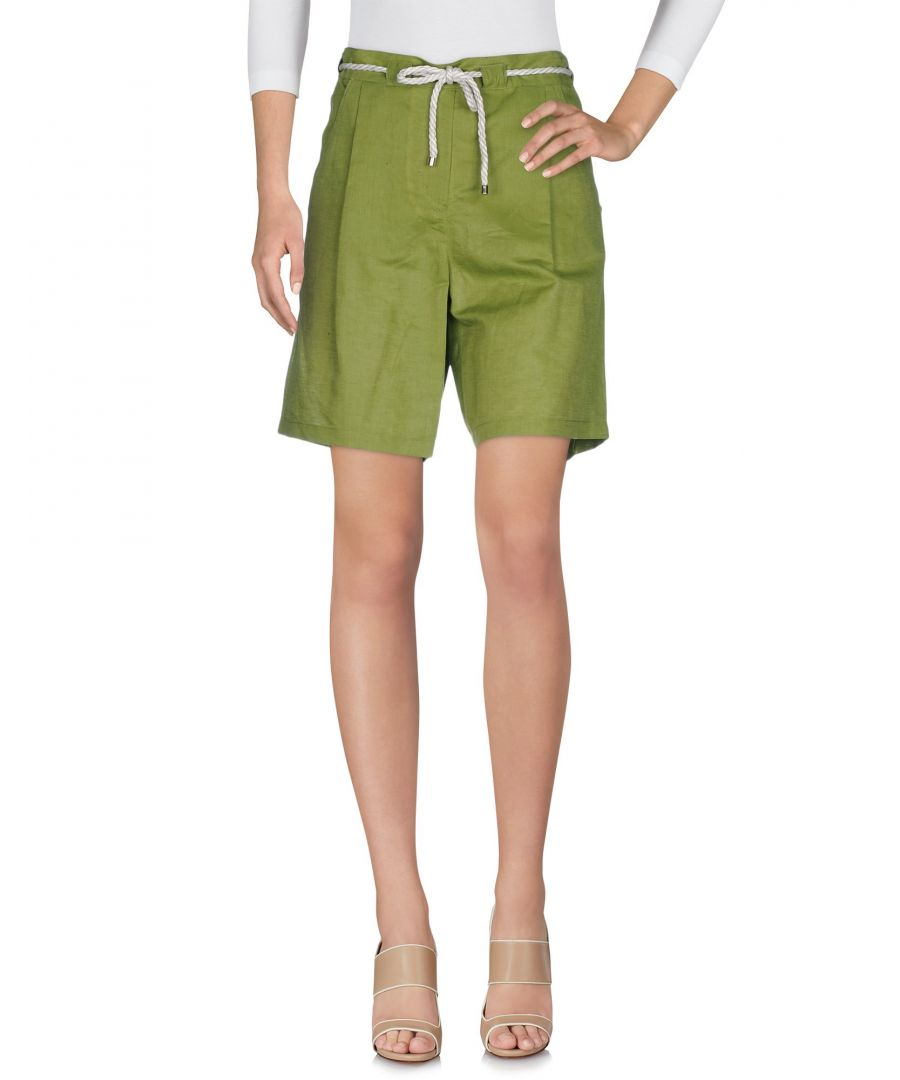 Image for TROUSERS Ice Iceberg Green Woman Linen