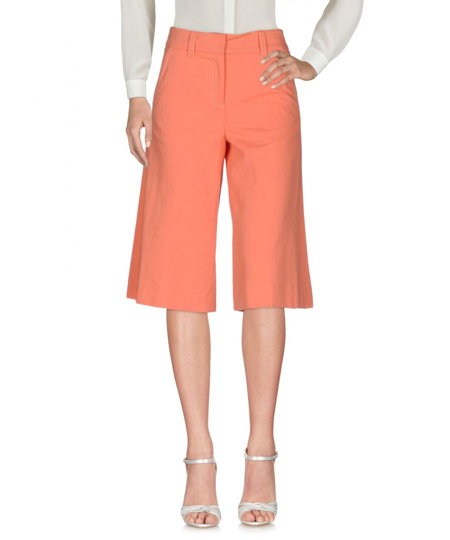 Image for M Missoni Salmon Pink Cotton Cropped Wide Leg Trousers