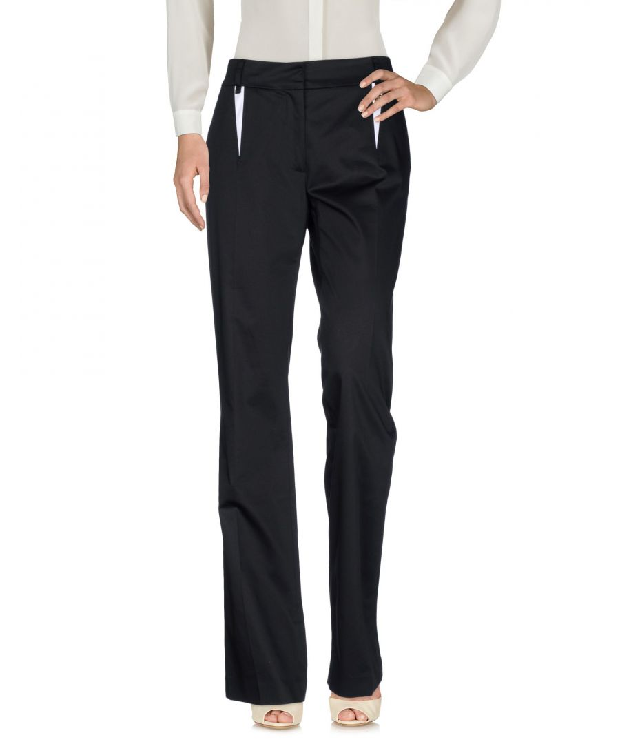 Image for Cavalli Class Black Cotton Tailored Trousers