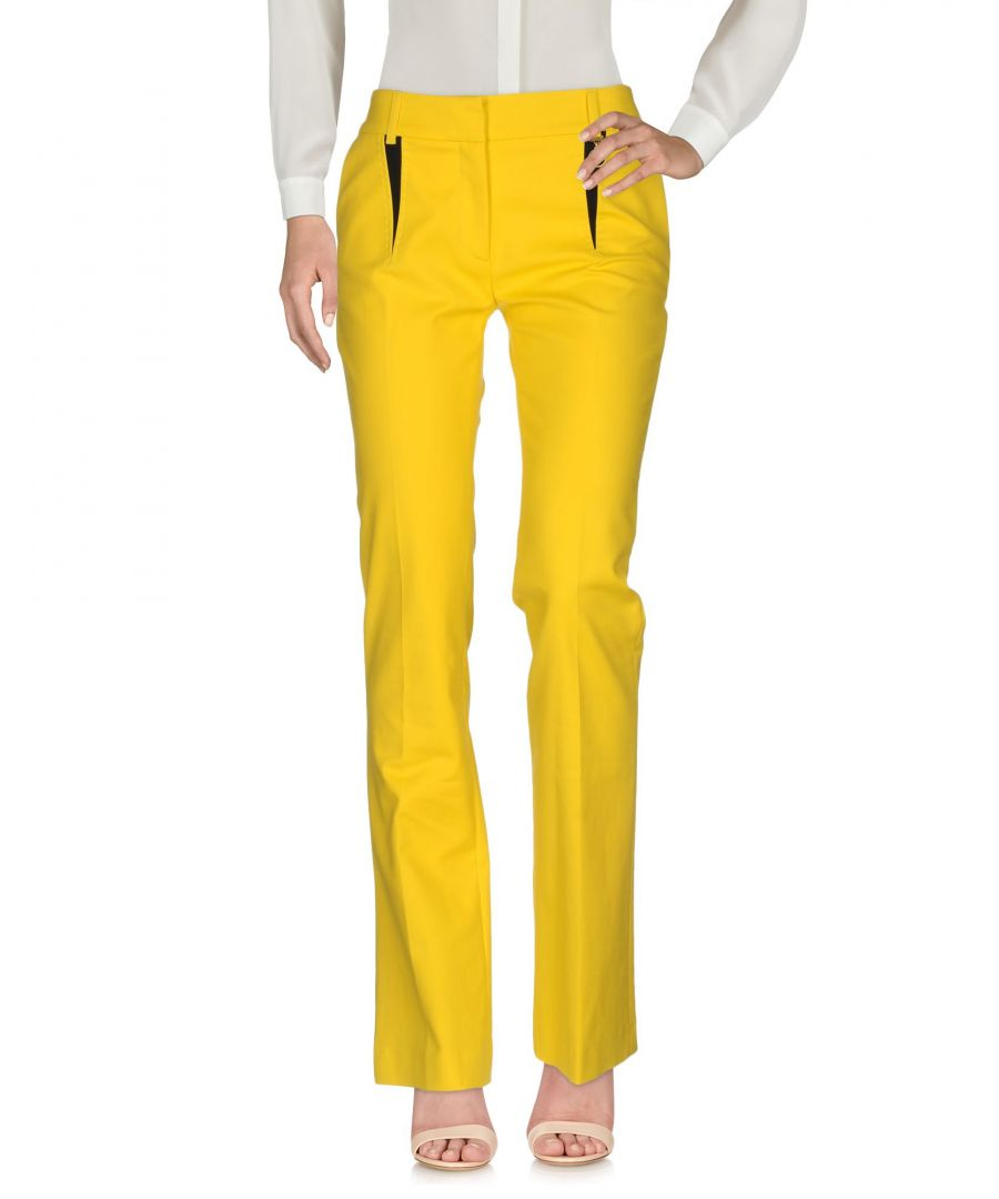Image for Cavalli Class Yellow Cotton Trousers