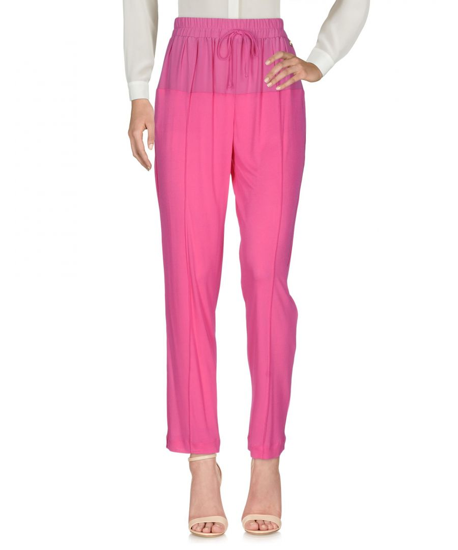 Image for Cavalli Class Fuchsia Crepe Tapered Leg Trousers