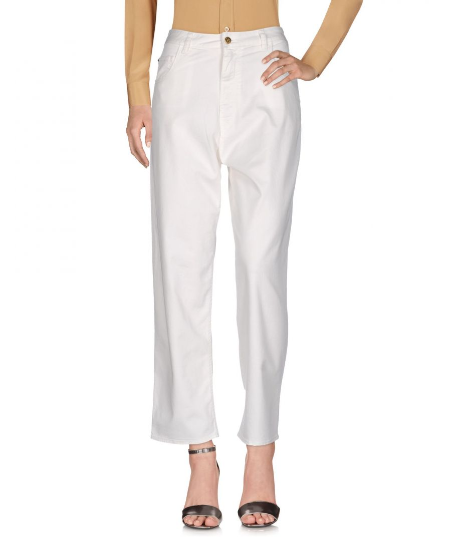Image for Cycle White Cotton Tapered Leg Trousers