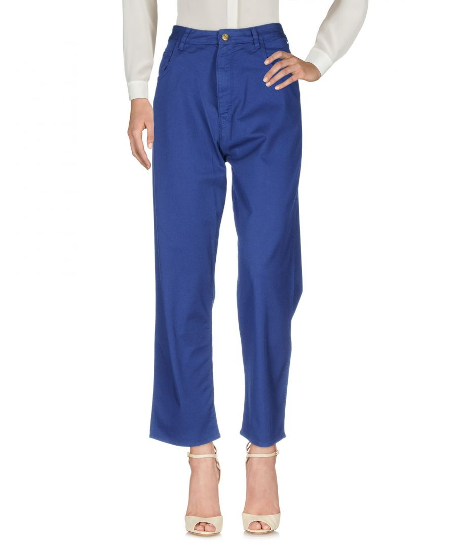 Image for Trousers Women's Cycle Blue Cotton