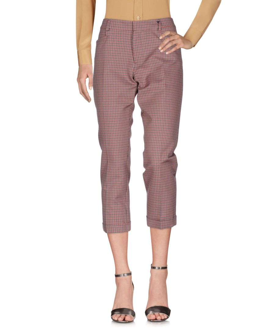 Image for Dsquared2 Red Cotton Cropped Trousers