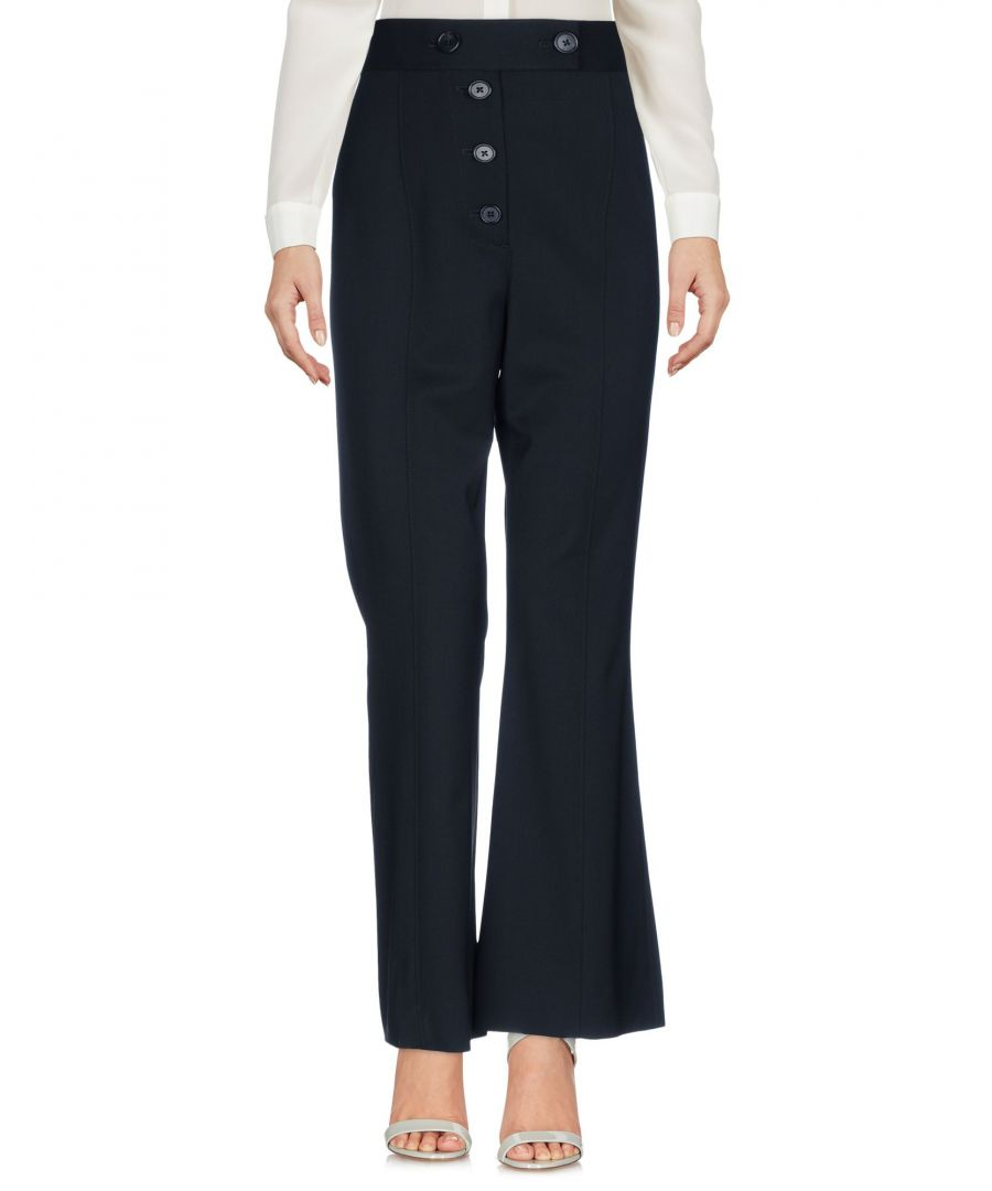 Image for Proenza Schouler Black Virgin Wool Wide Leg Trousers