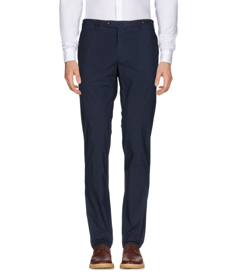 Image for Pt01 Dark Blue Cotton Trousers