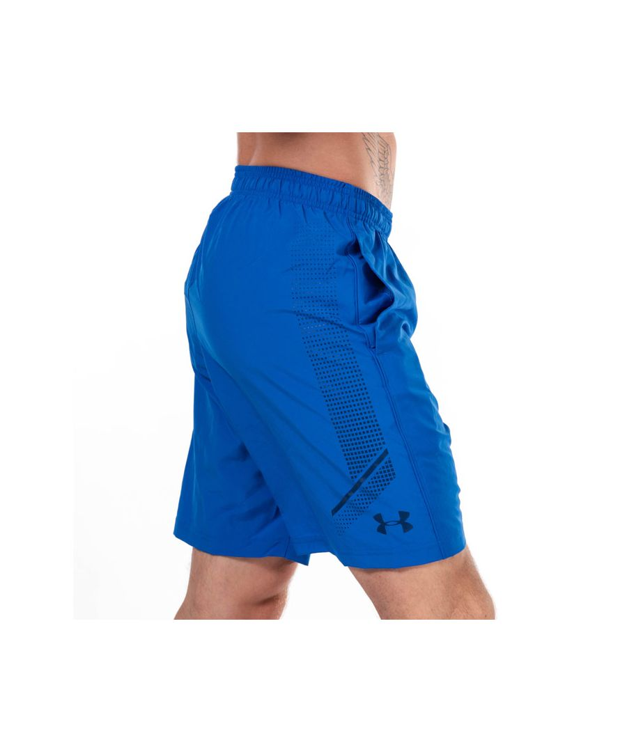Image for Men's Under Armour UA Woven Graphic Shorts in Blue