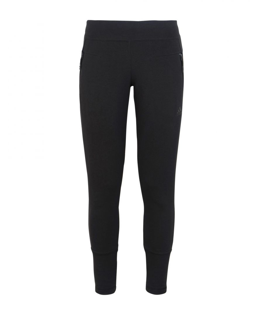 Image for Adidas Black Cotton Casual Trousers