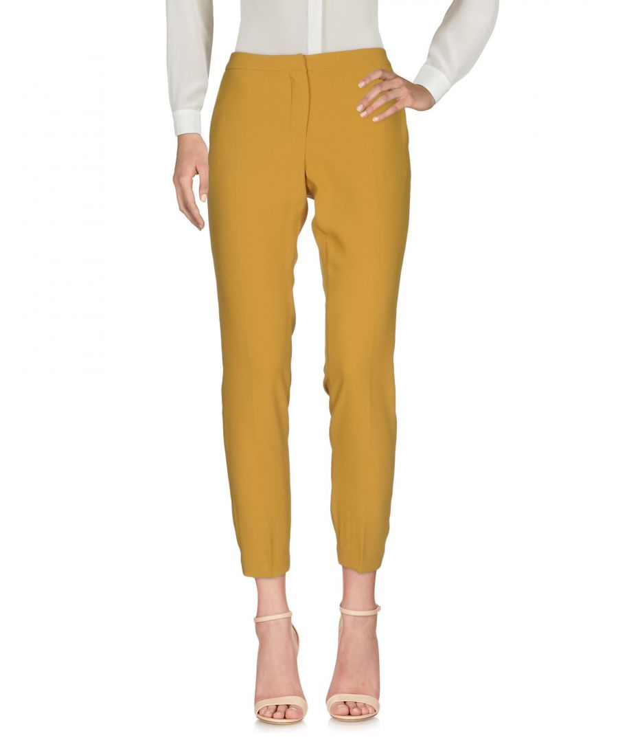 Image for Ermanno Di Ermanno Scervino Mustard Straight Leg Tailored Trousers