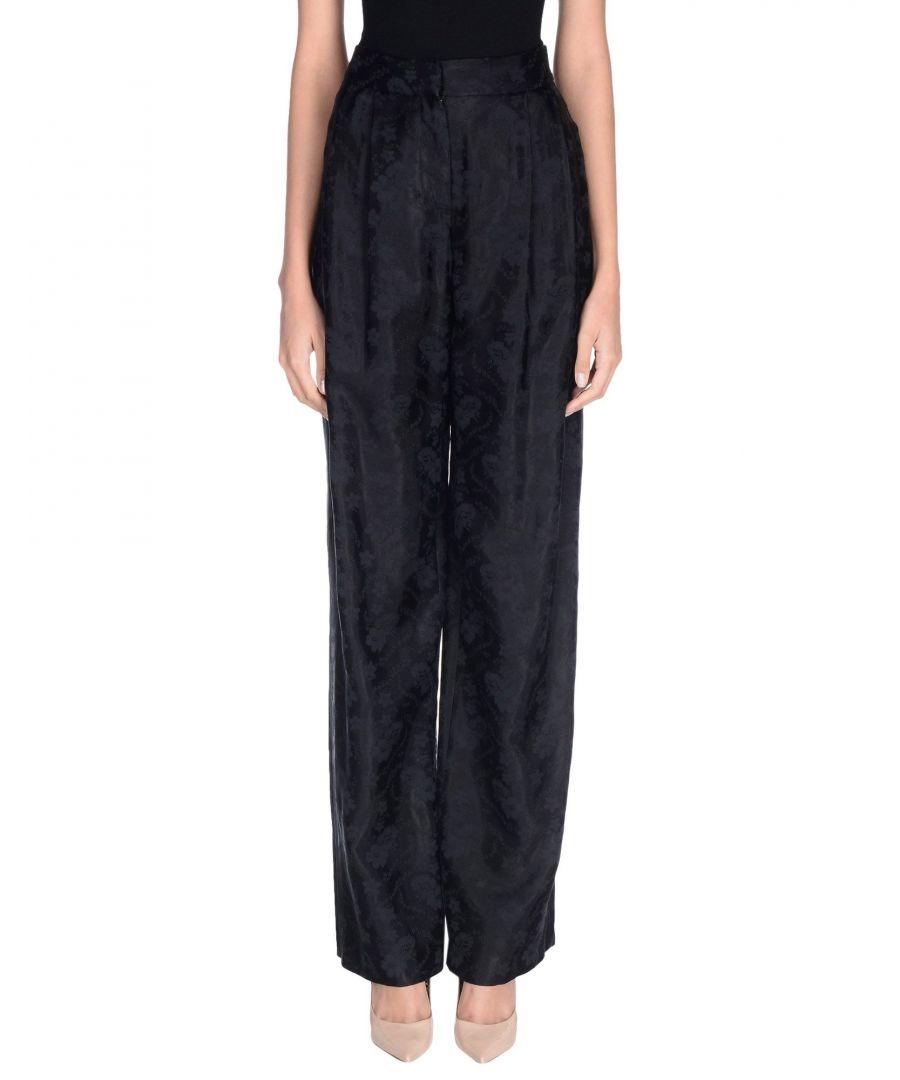 Image for Philosophy Di Lorenzo Serafini Black Cotton Jacquard Wide Leg Trousers