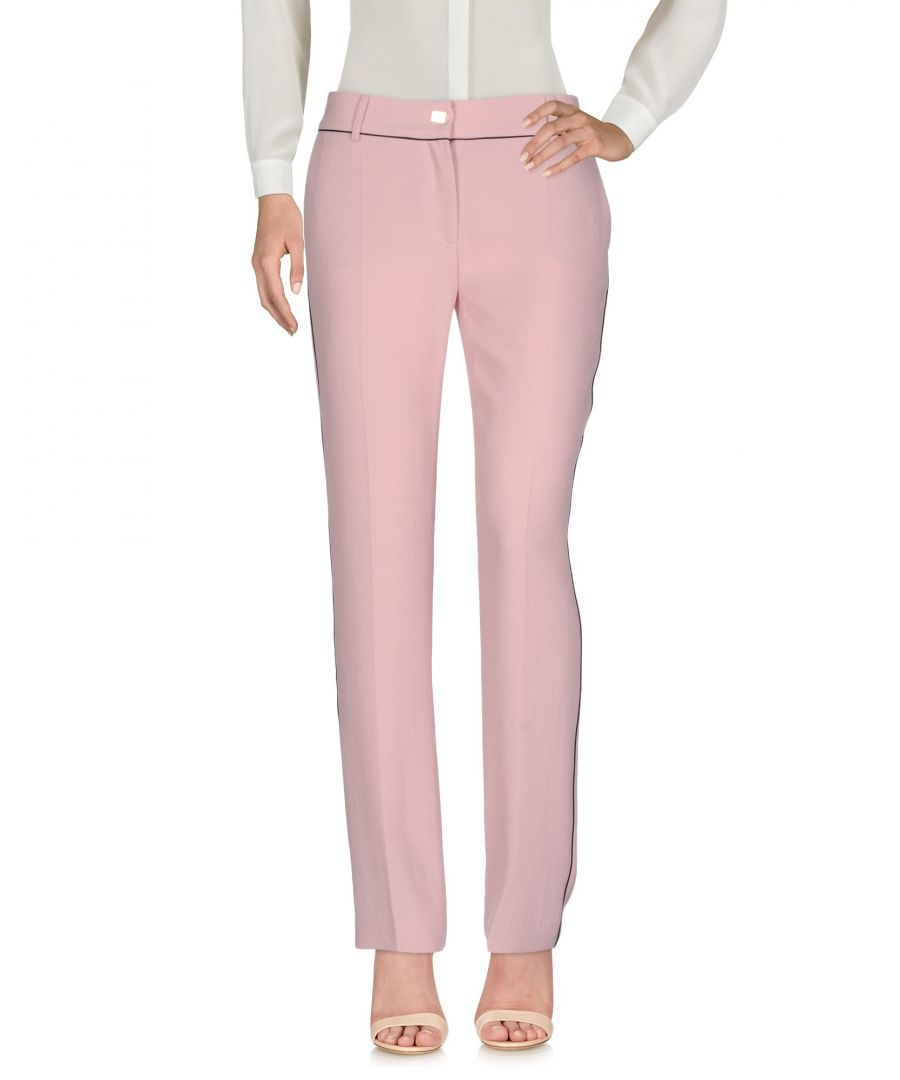 Image for Cavalli Class Pink Straight Leg Tailored Trousers