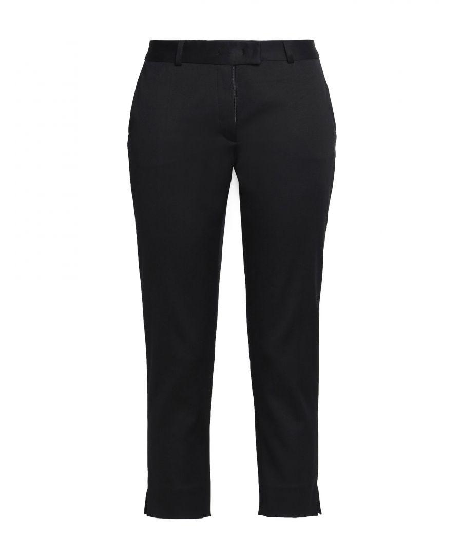 Image for Joseph Black Cotton Tapered Leg Trousers