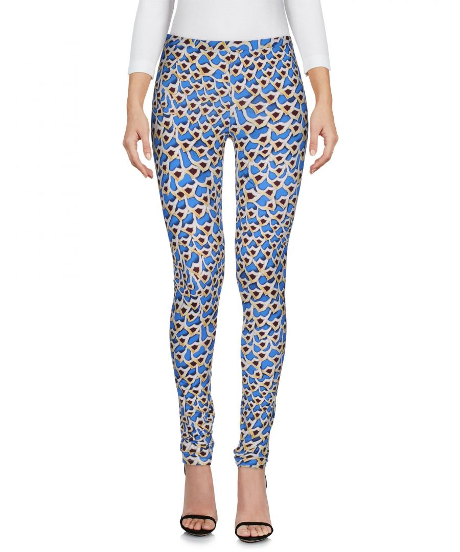 Image for Just Cavalli Blue Print Stretch Trousers