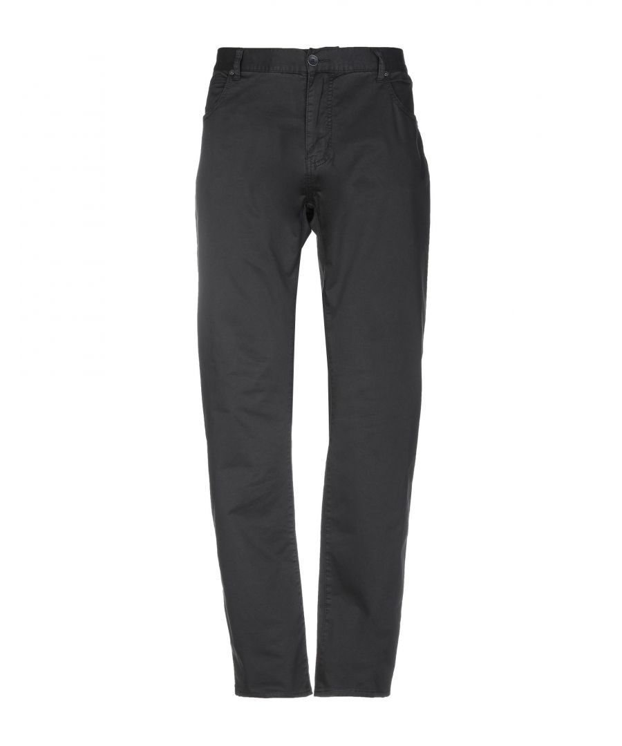 Image for Armani Jeans Dark Blue Cotton Twill Straight Leg Trousers