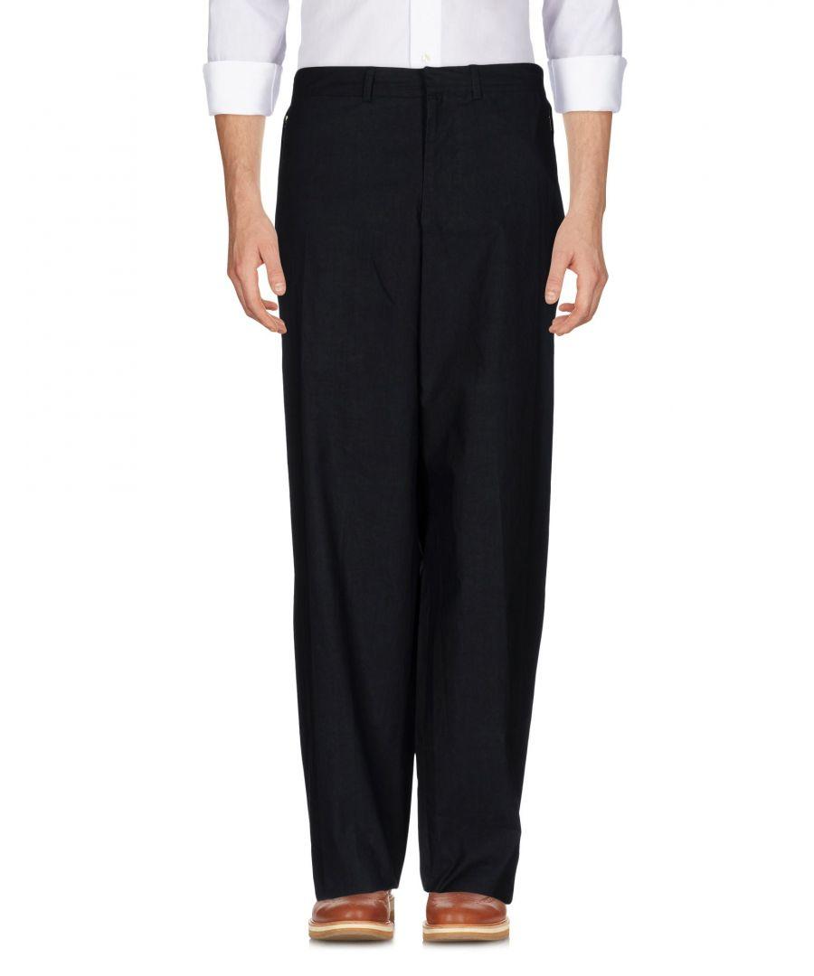 Image for Armani Collezioni Dark Blue Cotton Trousers