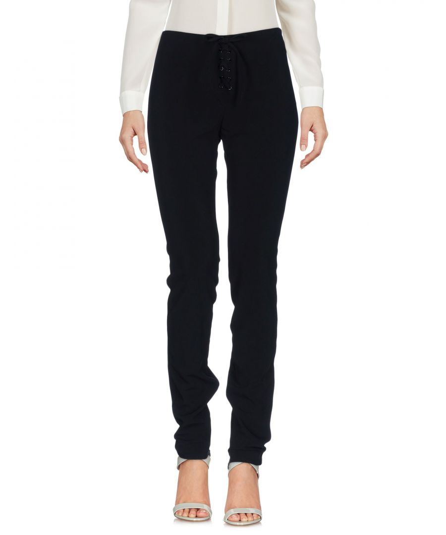 Image for Love Moschino Black Twill Tapered Leg Trousers