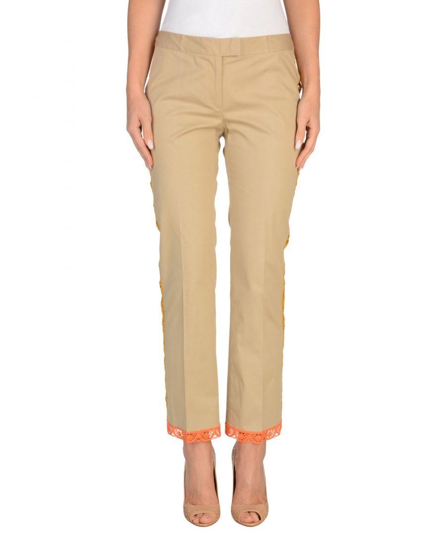 Image for Philosophy Di Alberta Ferretti Beige Cotton Tailored Trousers