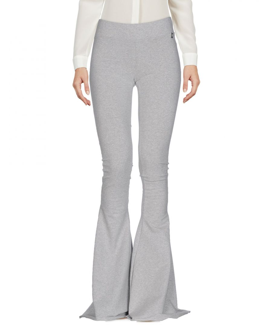 Image for Met Jeans Light Grey Cotton Flare Trousers