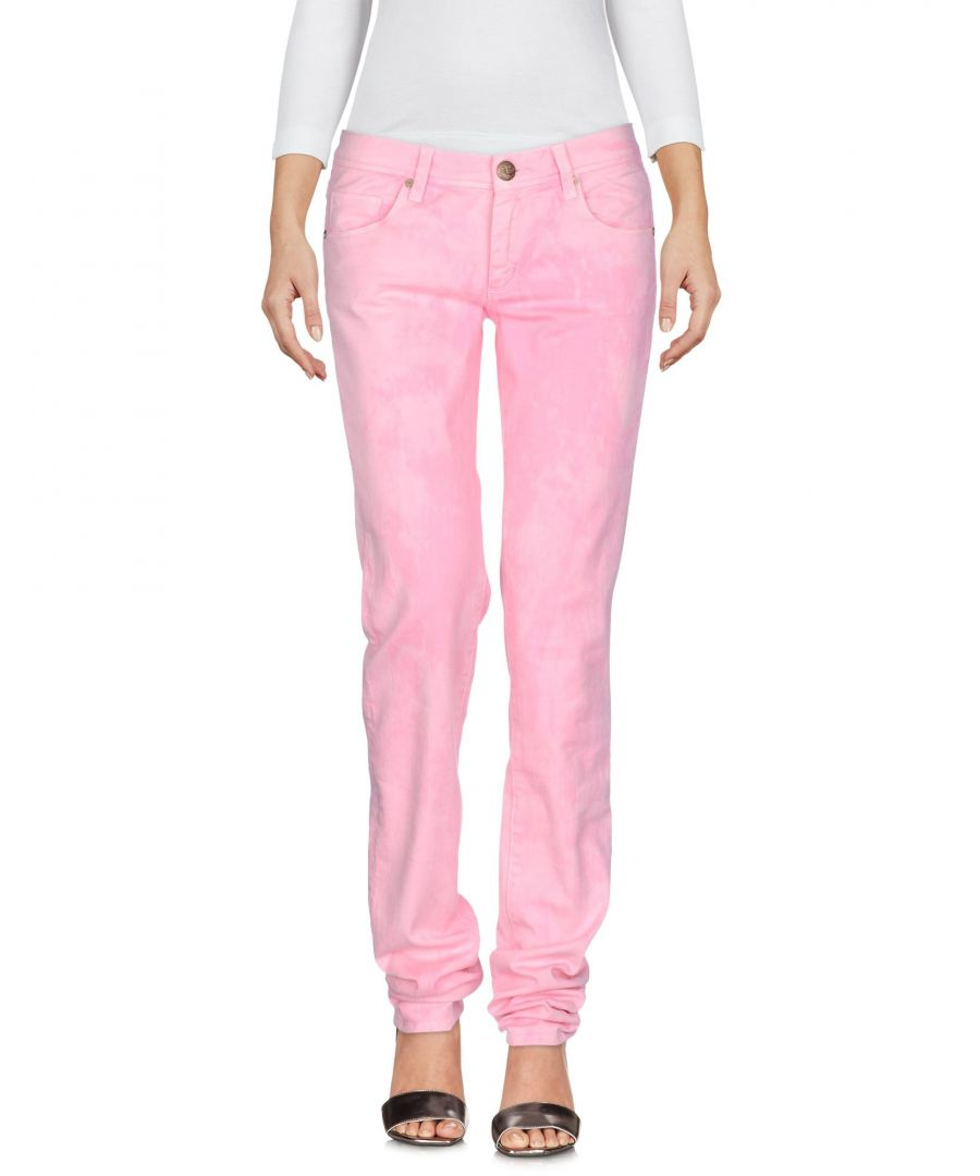 Image for Ermanno Di Ermanno Scervino Pink Cotton Straight Leg Trousers
