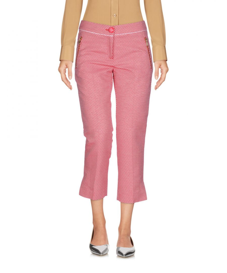 Image for Cavalli Class Red Cotton Cropped Trousers