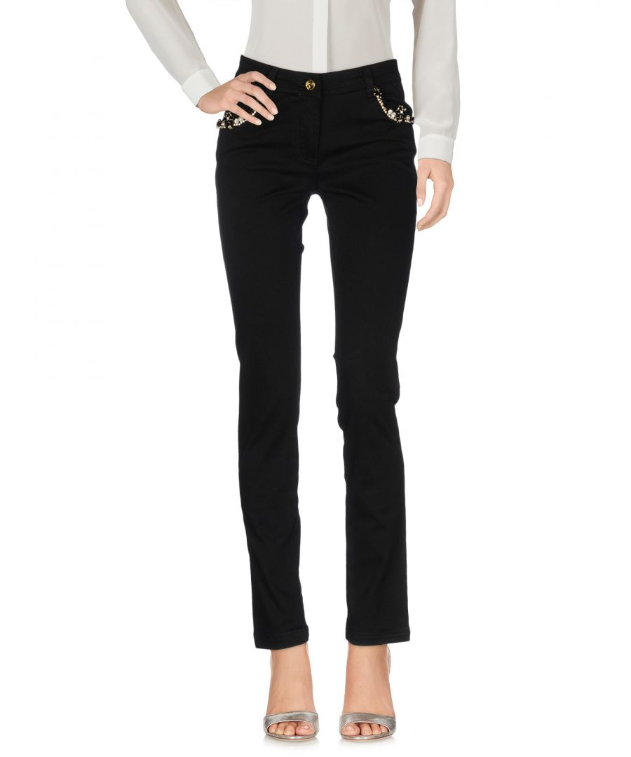 Image for Cavalli Class Yellow Cotton Tapered Leg Trousers