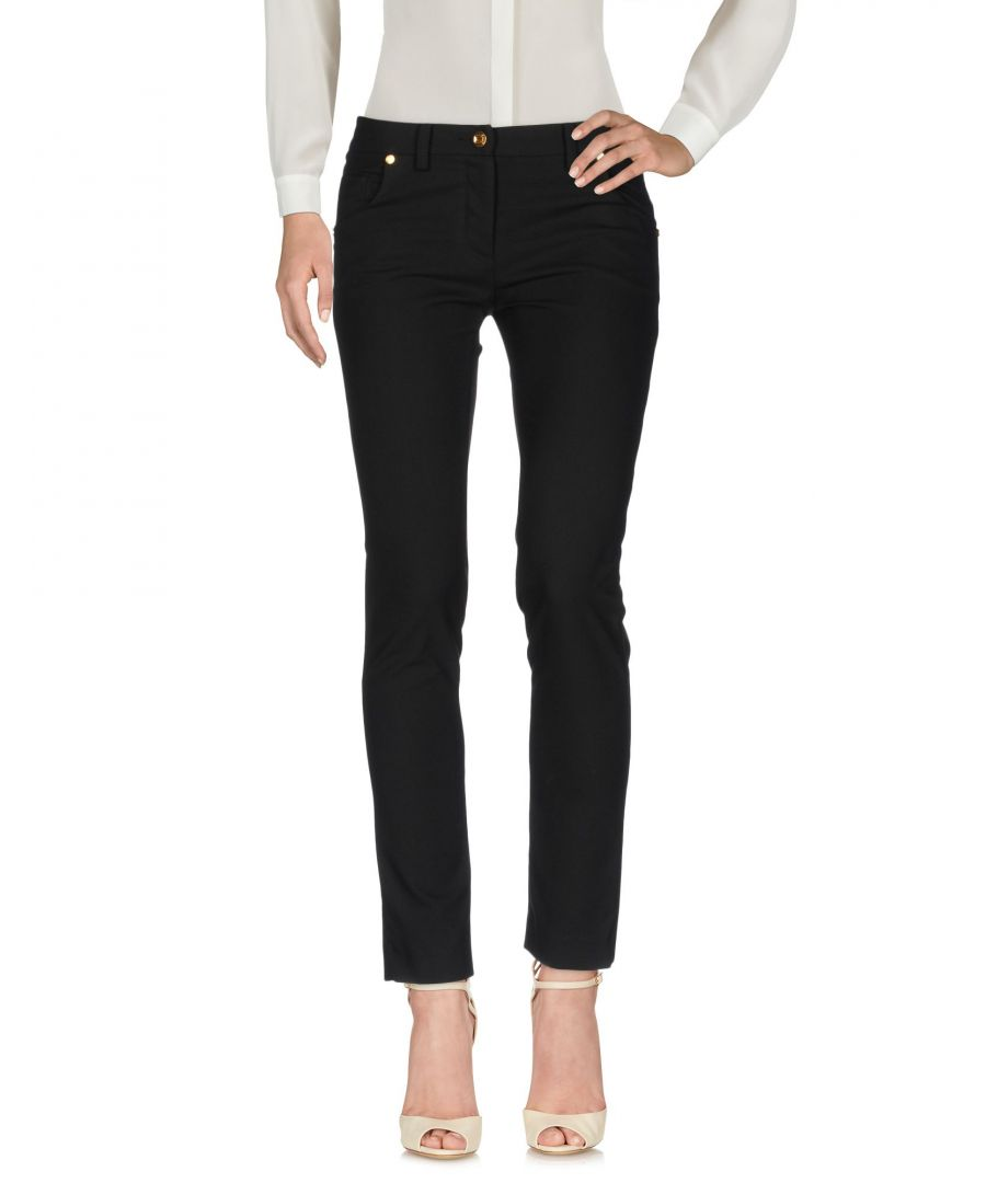 Image for Cavalli Class Black Tapered Leg Slim Fit Trousers