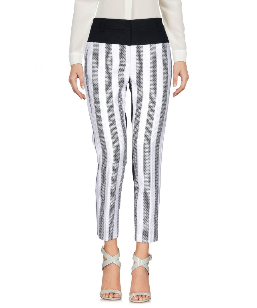 Image for Cavalli Class Black Stripe Cotton Straight Leg Trousers