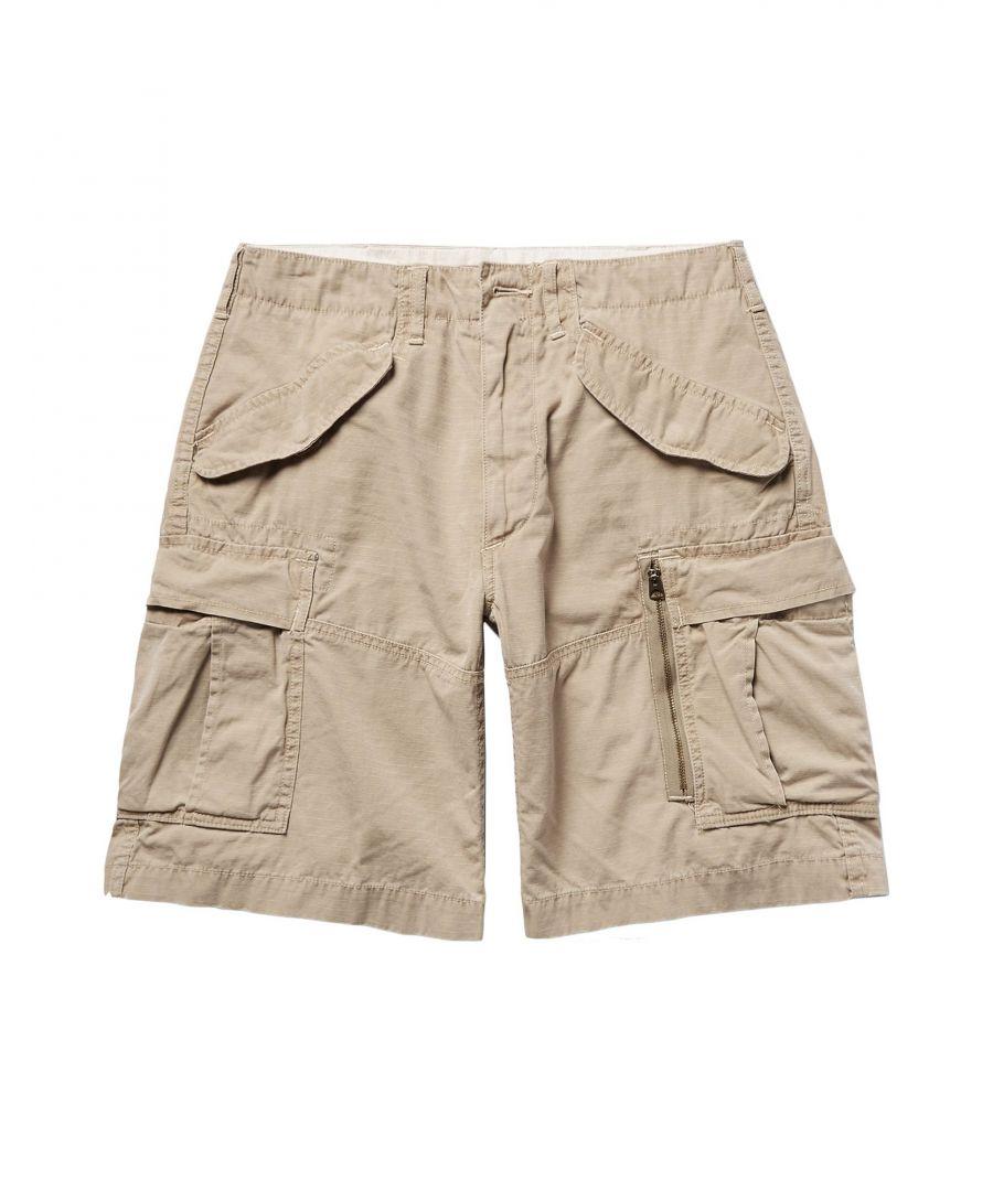 Image for Polo Ralph Lauren Beige Cotton Cargo Shorts