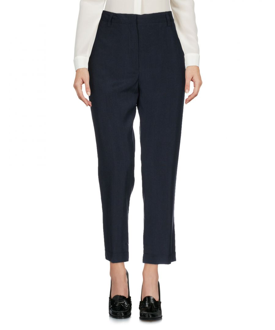 Image for Aspesi Dark Blue Silk Cropped Trousers