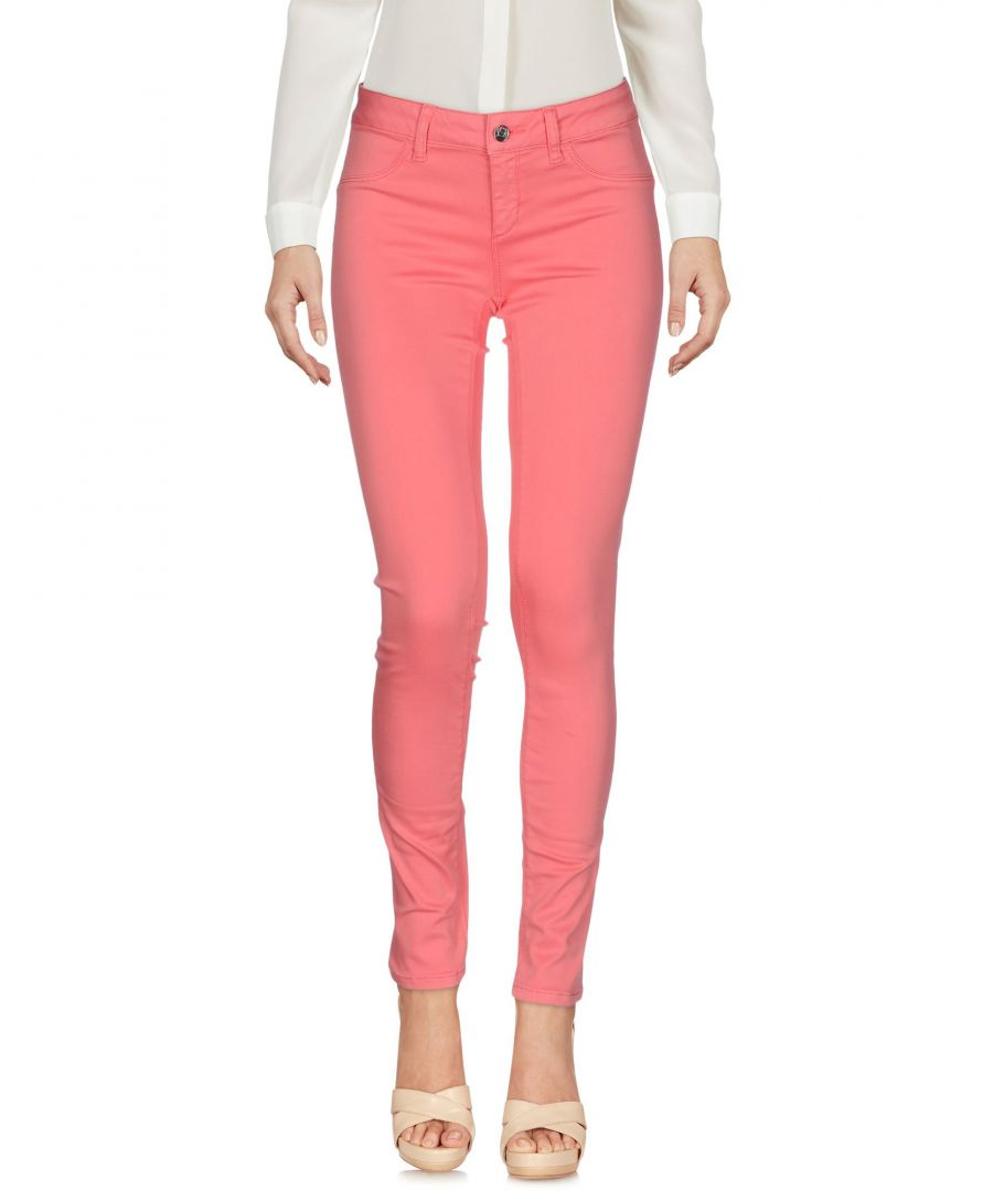 Image for Liu Jo Pink Cotton Tapered Leg Trousers