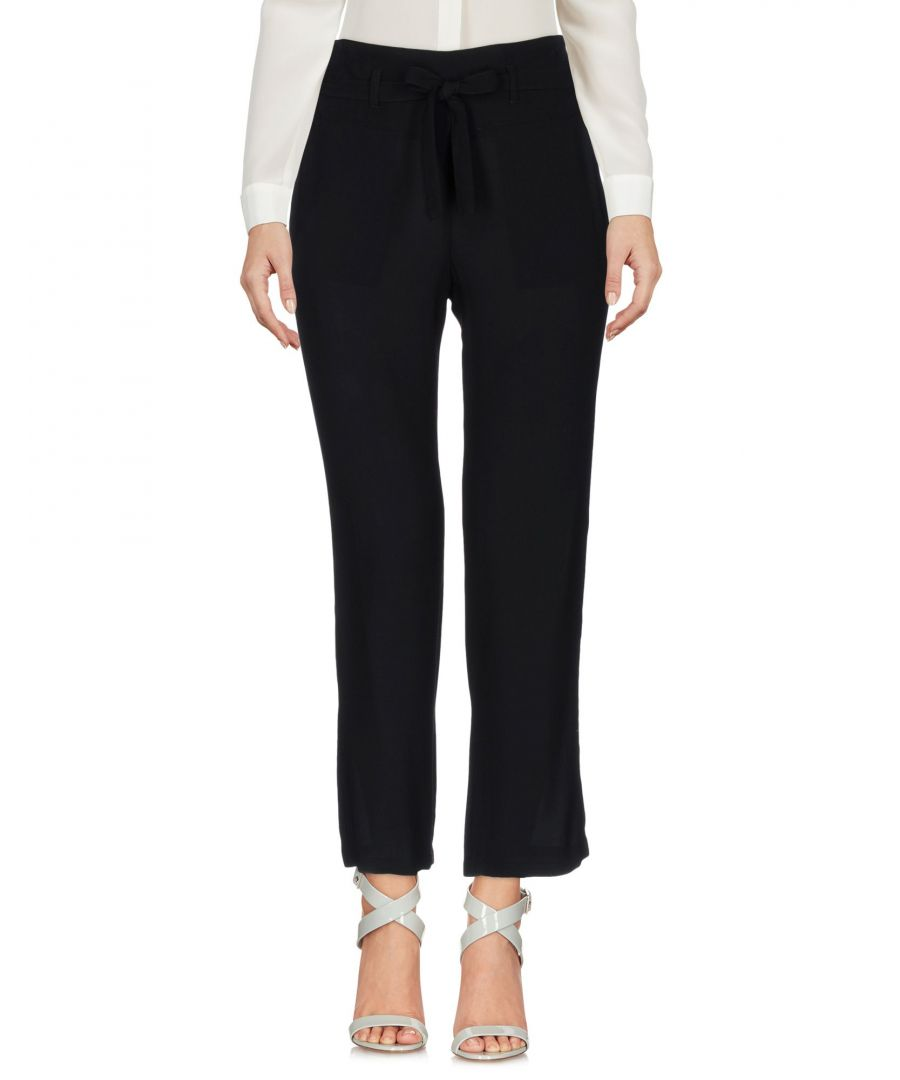 Image for Atos Lombardini Black Crepe Tailored Trousers