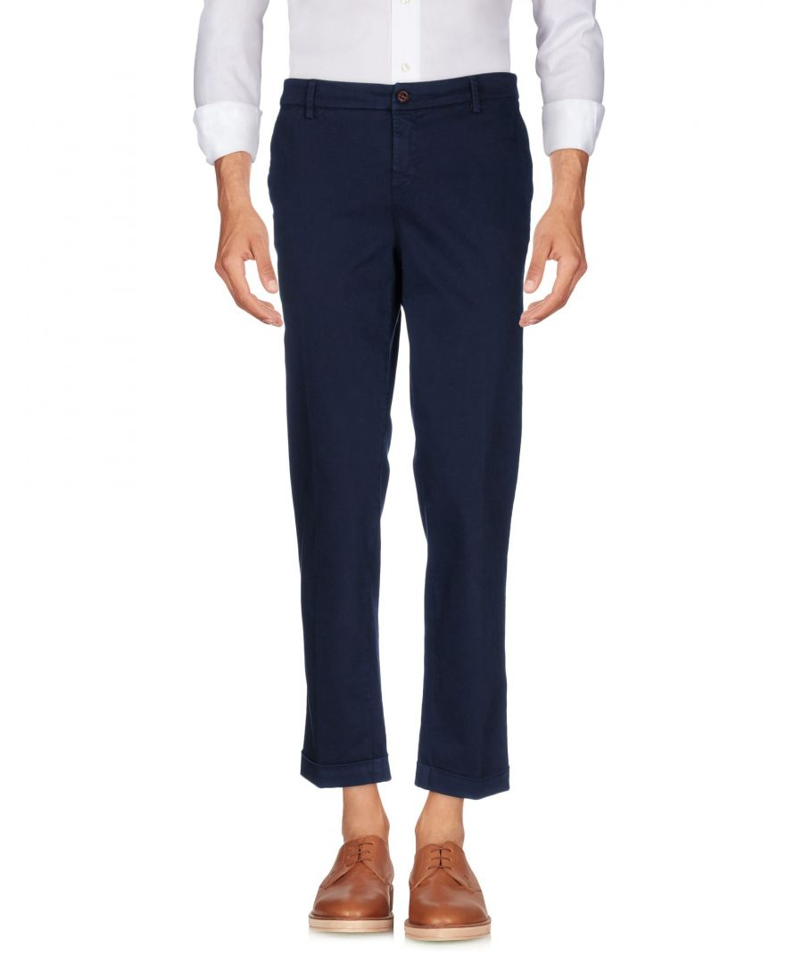 Image for Fay Dark Blue Cotton Trousers