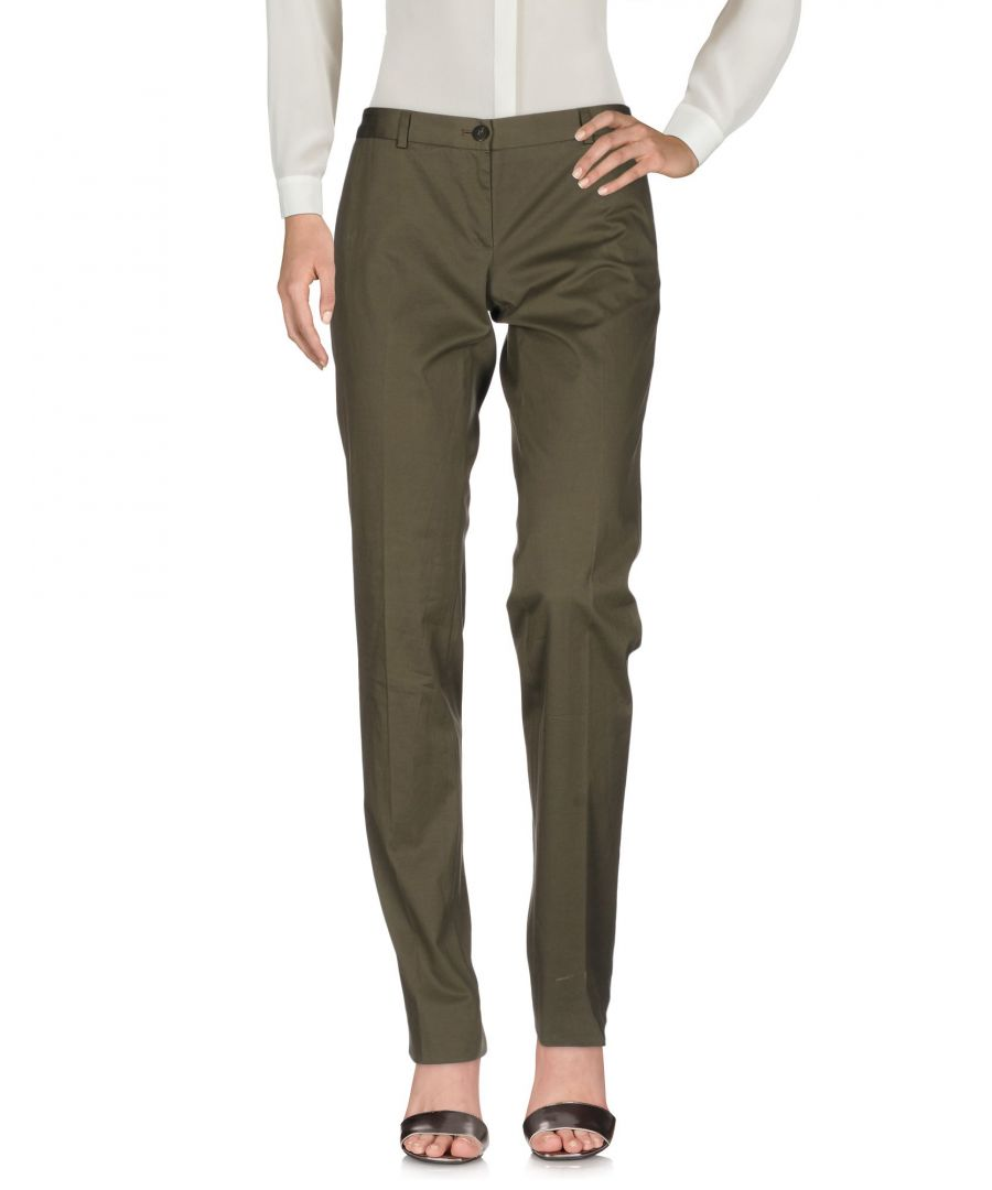 Image for TROUSERS Mauro Grifoni Military green Woman Cotton