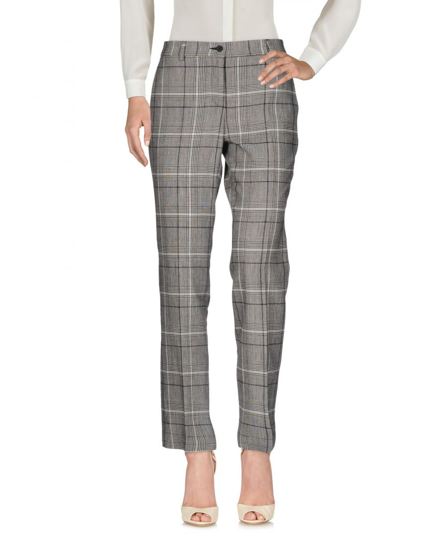Image for L' Autre Chose Black Linen Trousers