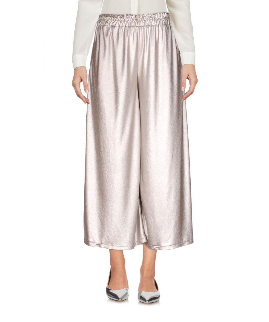 Image for Merci Grey Laminated Effect Wide Leg Cropped Trousers