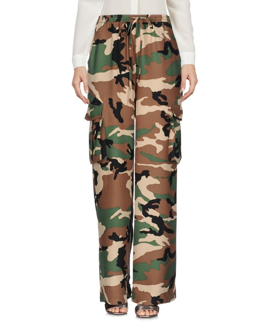 Image for Trousers Women's P.A.R.O.S.H. Military Green Silk