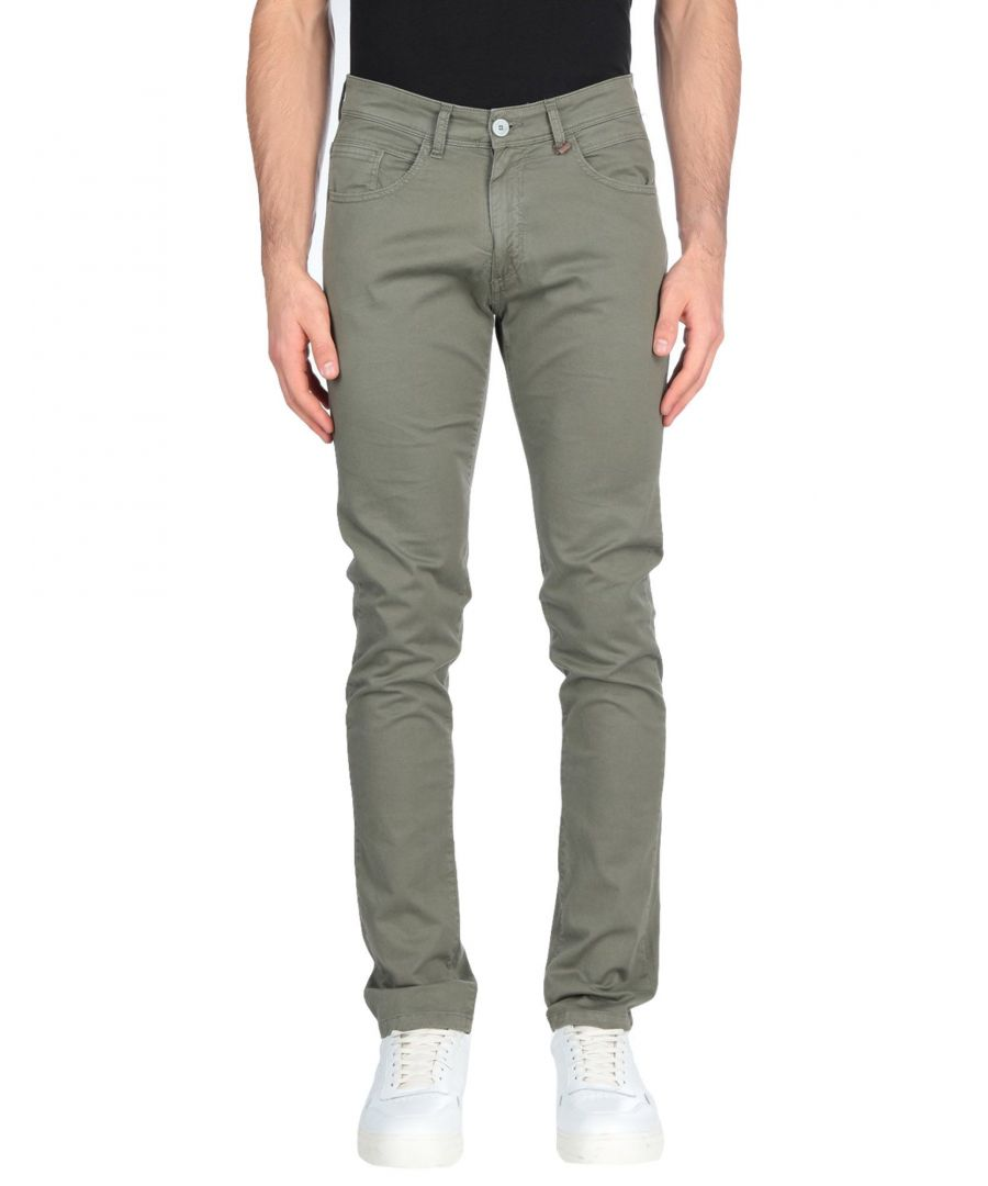 Image for Liu Jo Man Military Green Cotton Tapered Leg Trousers