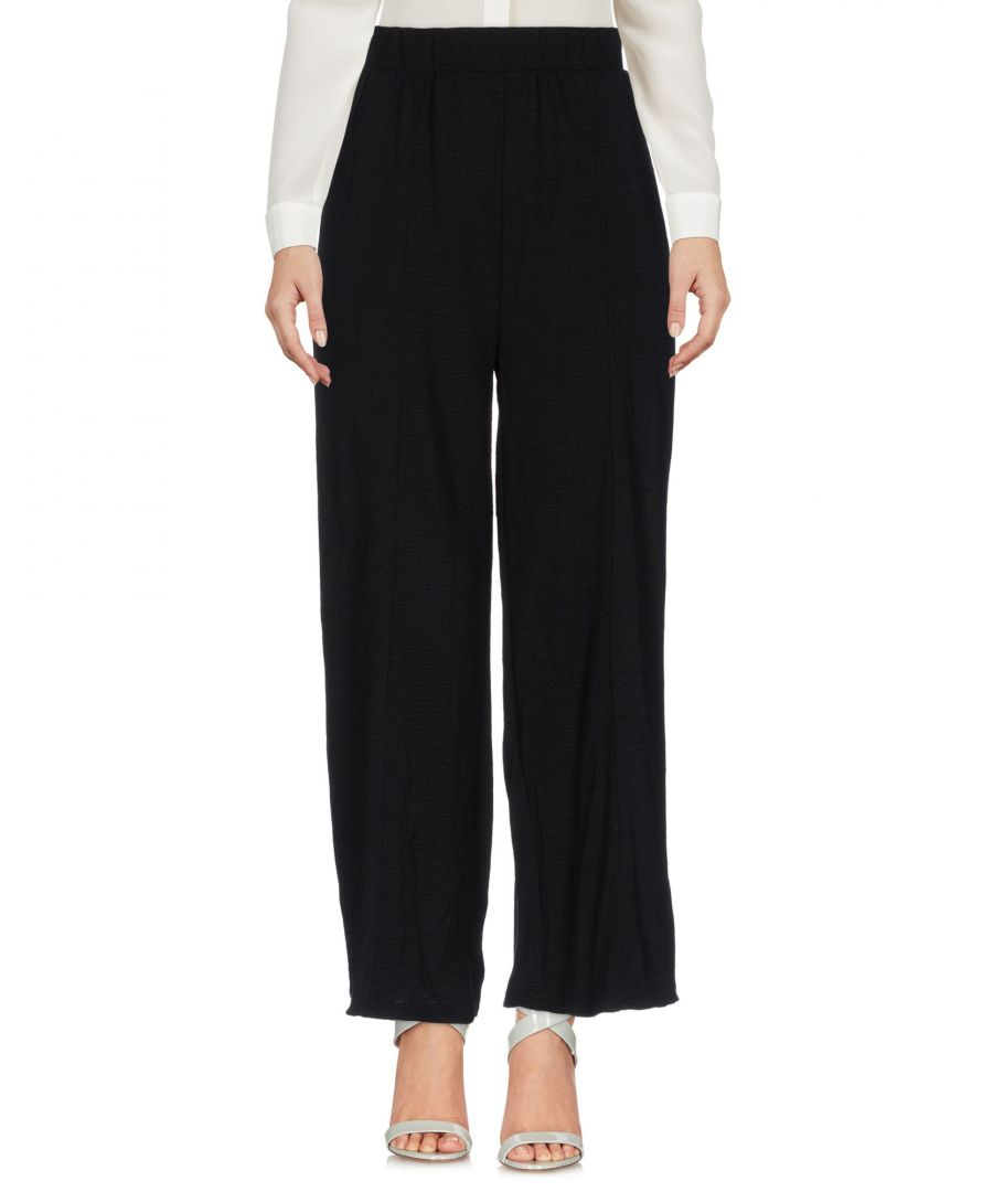 Image for Minimum Black Polyester Pantaloni capri